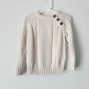 NWT Old Navy | Boys Cream Knit Sweater | 2T